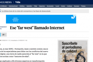 La Vanguardia: Ese «far west» llamado Internet